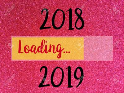 110437827-goodbye-2018-hello-2019-loading-new-year-words-on-pink-glitter-texture-christmas-abstract-background